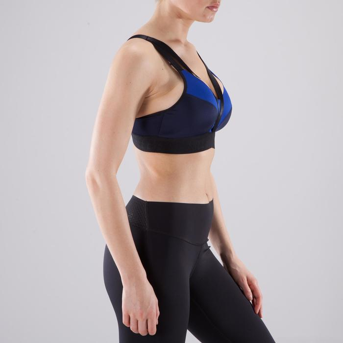 Brassière fitness cardio-training femme bleue 500