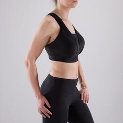 900 Women's Fitness Cardio Training Deep Cup Sports Bra - Black