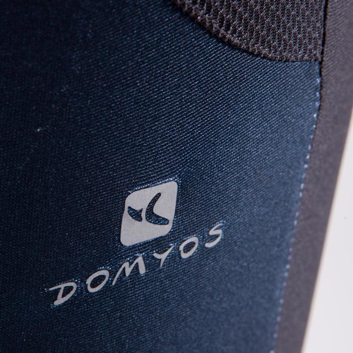 Legging 7/8 fitness cardio femme bleu marine détails tropicaux 500 Domyos - 1422833