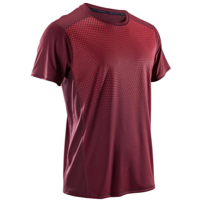 T-shirt fitness cardio homme noir imprimé FTS 120 - 1422853