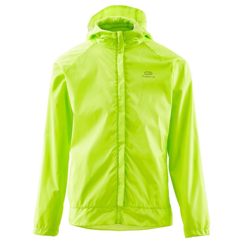 Cortaviento júnior Trail Running club personalizable amarillo limón