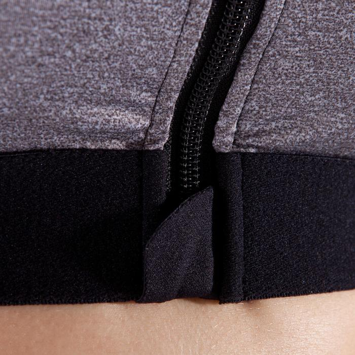 Cardiofitness sporttopje met rits voor dames gemêleerd grijs 900