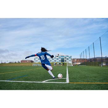 Short de football femme F500 gris menthe - 1422986