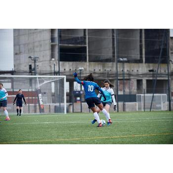 Short de football femme F500 gris menthe - 1422989