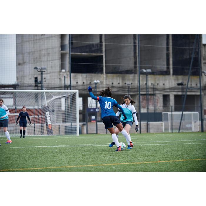 Voetbalshort dames F500 marineblauw
