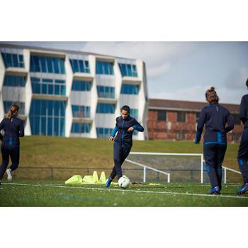 Veste d'entraînement de football femme T500 grise menthe - 1423012