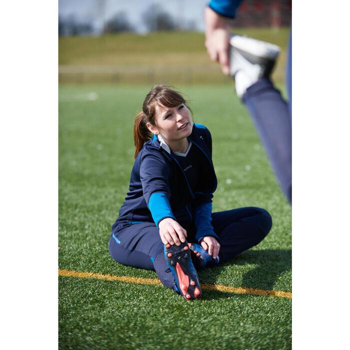 Chaqueta de entrenamiento de fútbol mujer T500 azul