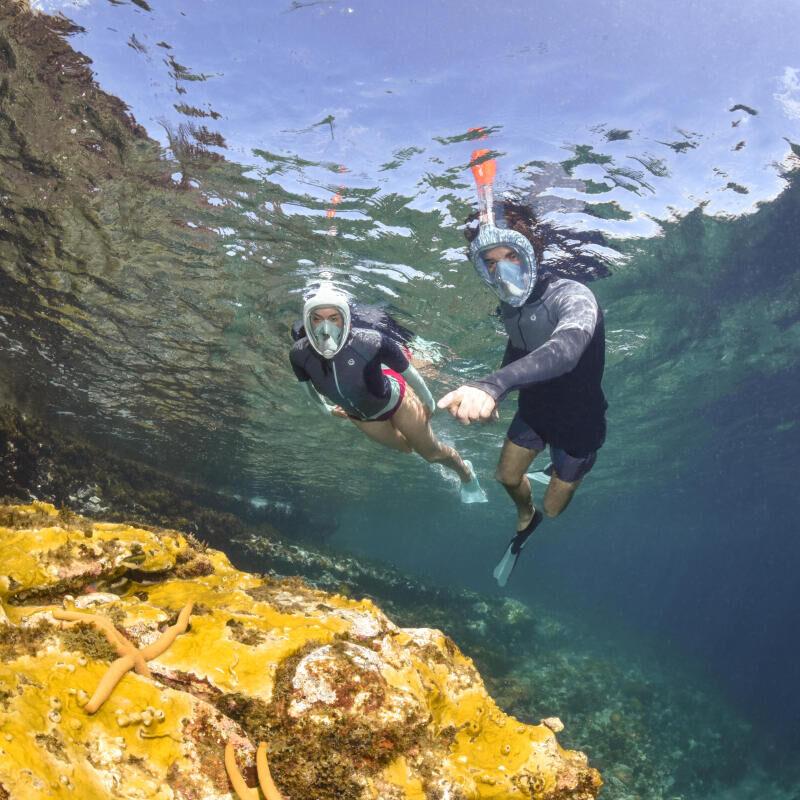 Vanliga frågor och svar angående easybreath snorklingsmask