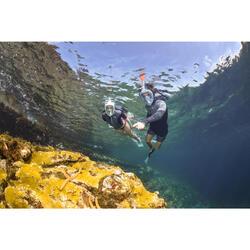 SNK 500 Adult snorkelling fins - blue green