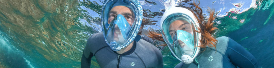 Easybreath snorkelmask gör att du kan se och andas normalt under vatten precis som på torra land!