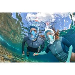 Top néoprène de snorkeling 1,5mm SNK 900 femme turquoise