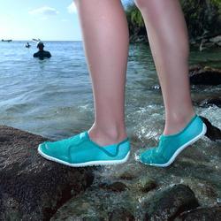 Zapatillas acuáticas Aquashoes 120 adulto degradado verde turquesa