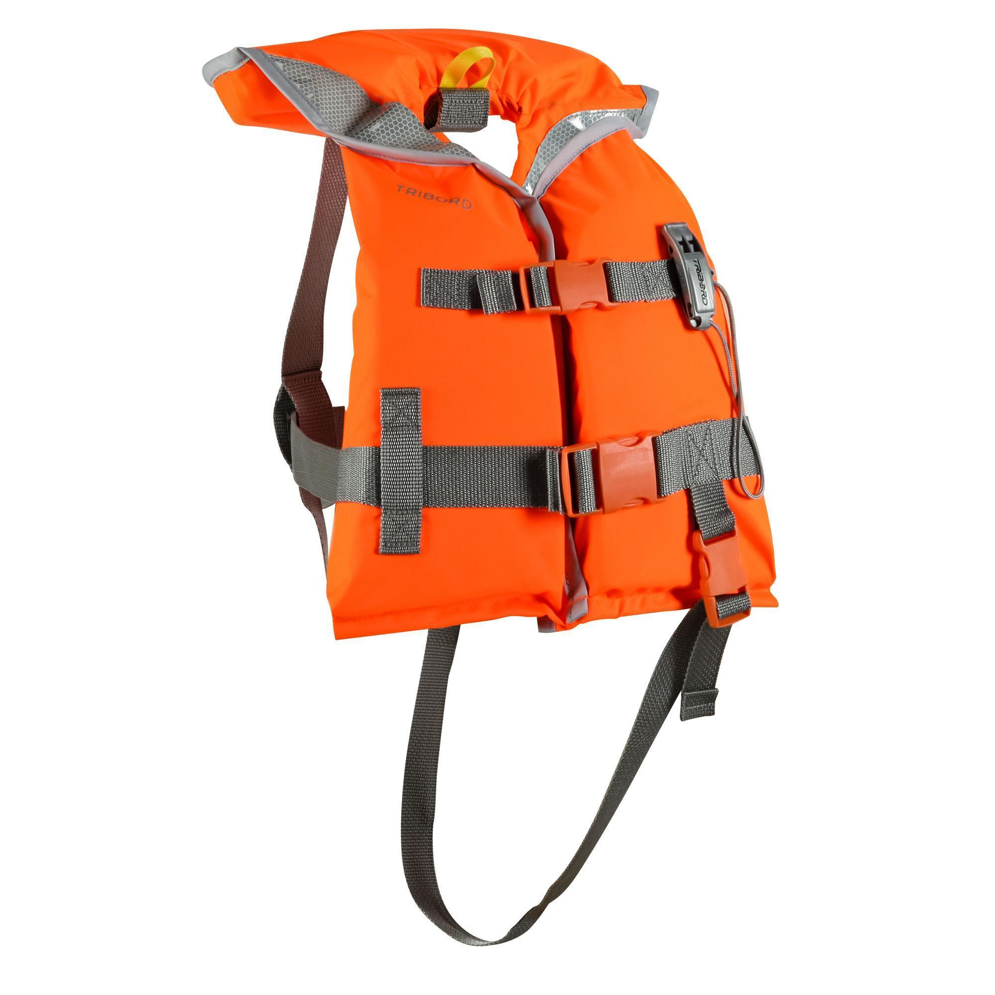 gilet de sauvetage mousse bateau enfant lj 100n orange tribord. Black Bedroom Furniture Sets. Home Design Ideas