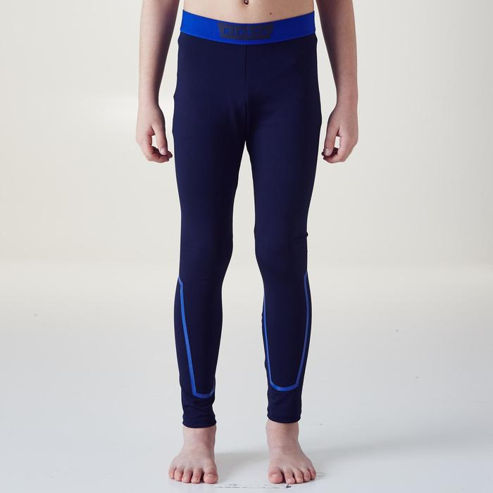 Keepdry 100 Kids' Breathable Tights - Dark Blue/Calf Highlights