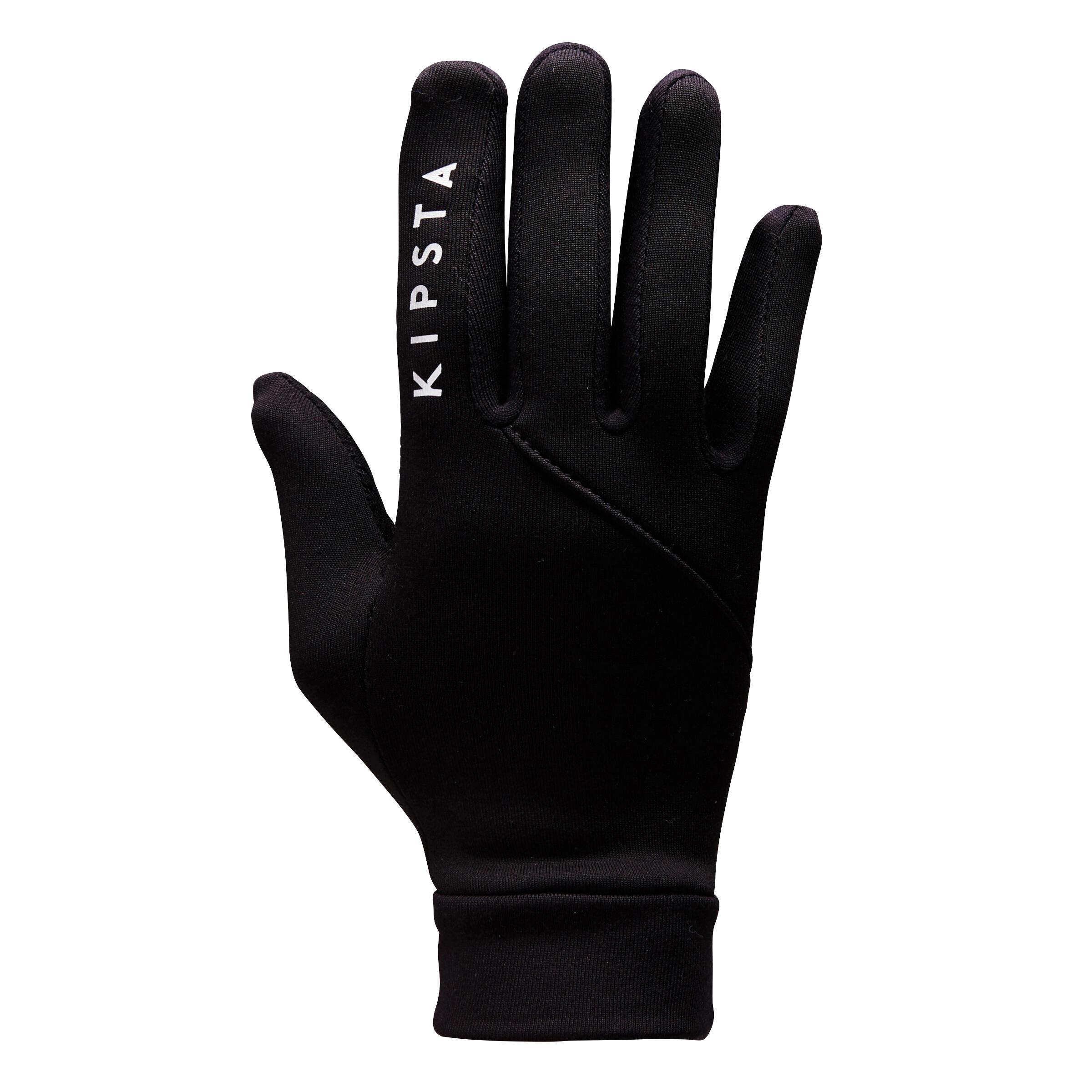 Kipsta Handschoenen kind Keepwarm 500 zwart