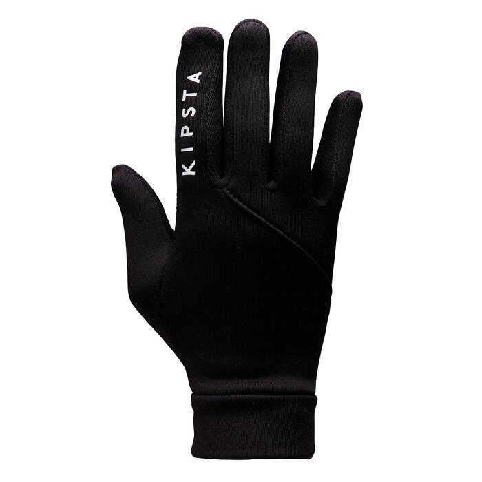 Handschoenen voor voetbal kinderen Keepdry 500 zwart