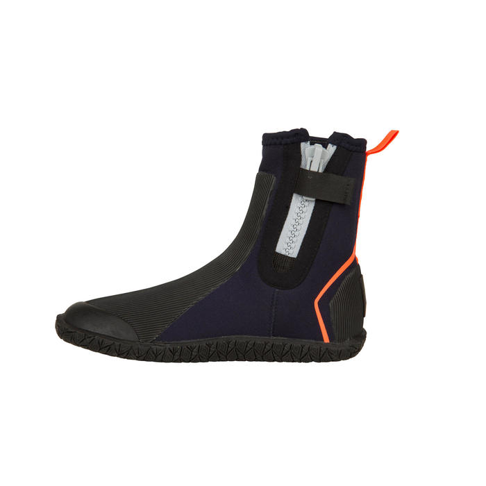 Dinghy 500 Sailing 4 mm Neoprene Boots - Black