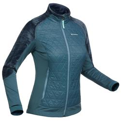 SH900 X-Warm Women's Snow Hiking Hybrid Fleece Jacket - China Blue.
