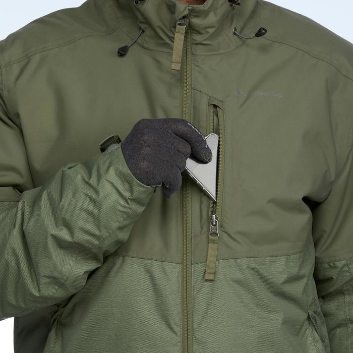 Wanderjacke Winterwandern SH100 X-Warm Herren grün