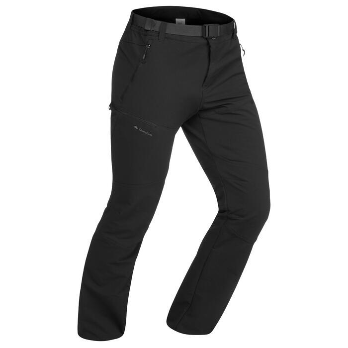 SH500 Men's x-warm stretch black snow hiking trousers. - 1423540