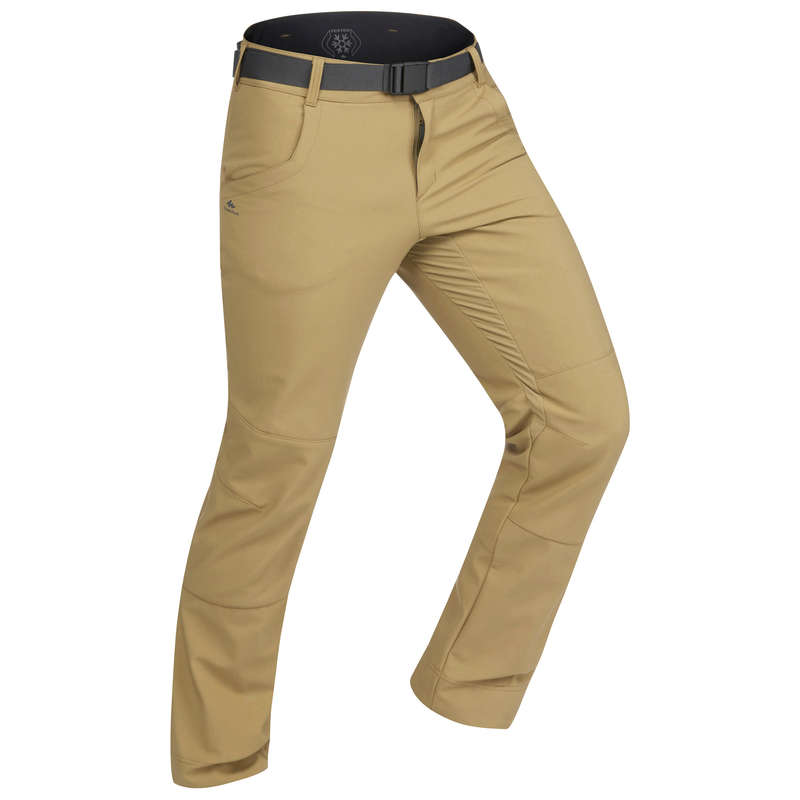 MEN SNOW HIKING WARM PANTS & FLEECES Hiking - M Trousers SH500 X-Warm-Brown QUECHUA - Hiking Clothes