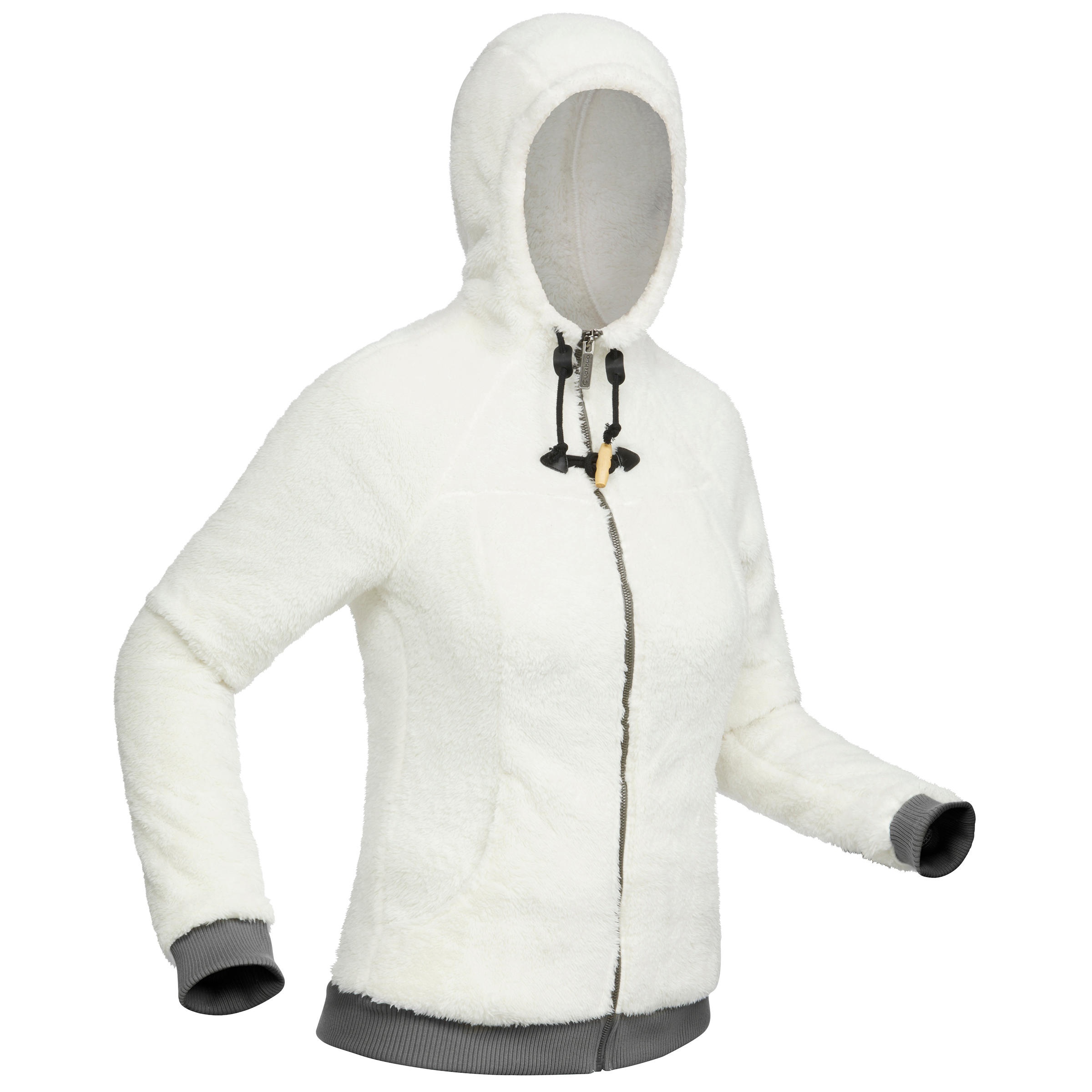SH100 Ultra-Warm Women's Snow Hiking Fleece Jacket - White