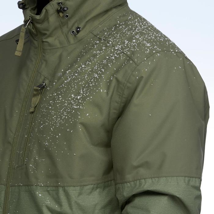 Chaqueta de senderismo nieve hombre SH100 x-warm verde.