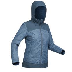 Chaqueta de senderismo nieve mujer SH100 x-warm china-azul