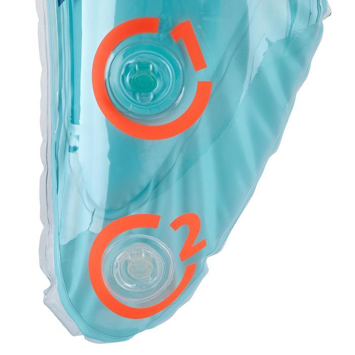 Bouée d'observation de snorkeling Olu 120 fish bleu orange - 1423564