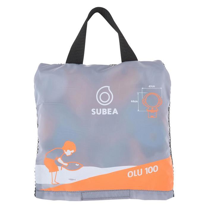 Bouée d'observation de snorkeling enfant SNK Olu 100 fish bleu orange - 1423569
