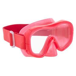 Máscara de apnea freediving FRD120 rosa