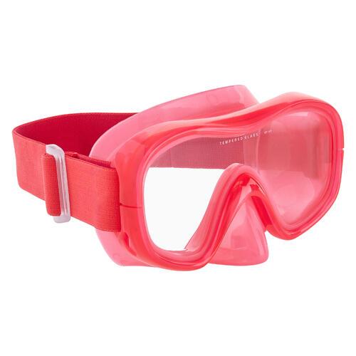 Masque d'apnée freediving FRD120 rose