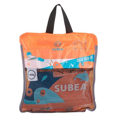 Flotador Playa Snorkel Subea Olu 120 fish Azul/Naranja
