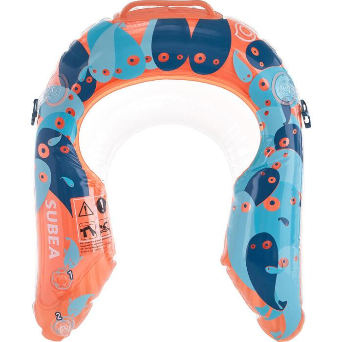 Bouée d'observation de snorkeling Olu 120 fish bleu orange - 1423610