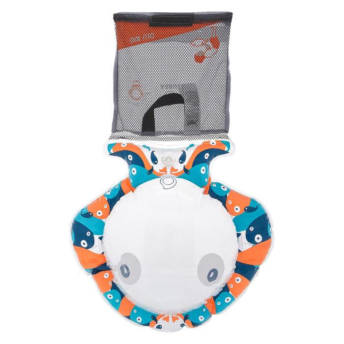 兒童款浮潛觀察浮圈SNK Olu 100-藍橘配色的小魚款