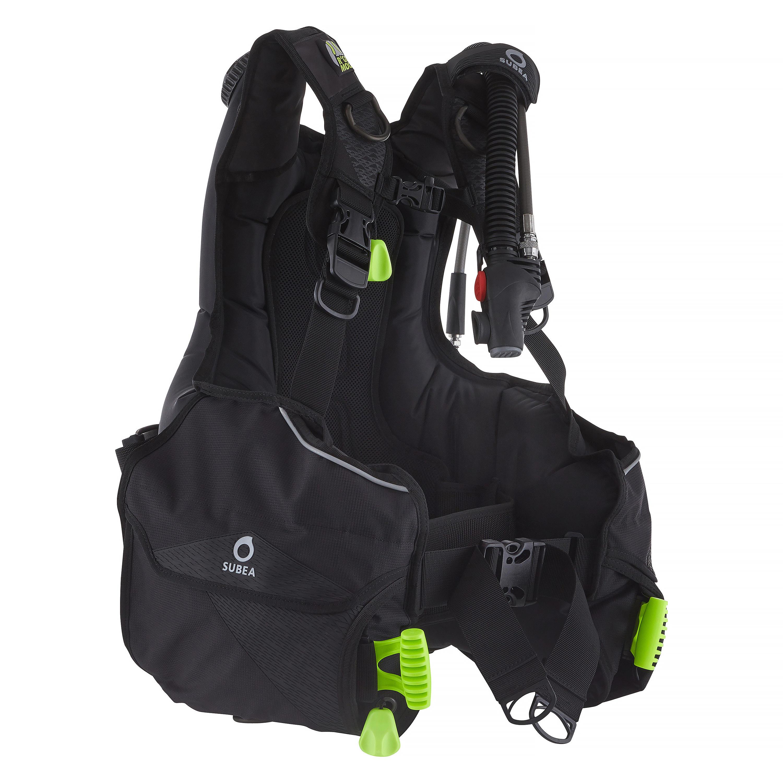 Tarierweste Tauchen SCD 500 kompakt | Sportbekleidung > Sportwesten > Funktionswesten | Schwarz - Gelb | Pvc - Polyamid - Pu | Subea