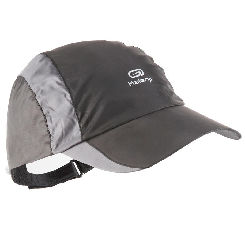 RUNNING RAIN CAP BLACK ADJUSTABLE 55-63 cm eb64b023309e