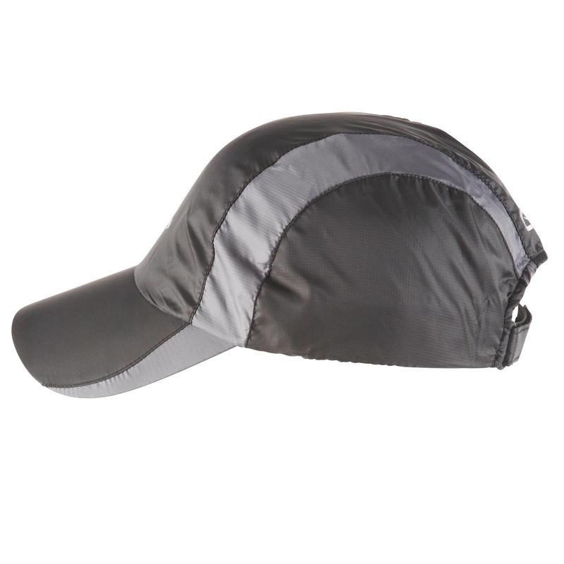 RUNNING RAIN CAP BLACK ADJUSTABLE 55-63 cm