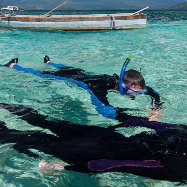 La protection solaire en snorkeling, randonnée palmée