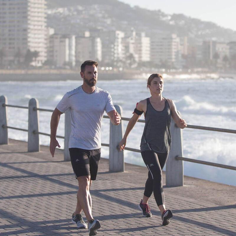 Start fitness walking: reach 6 km/h