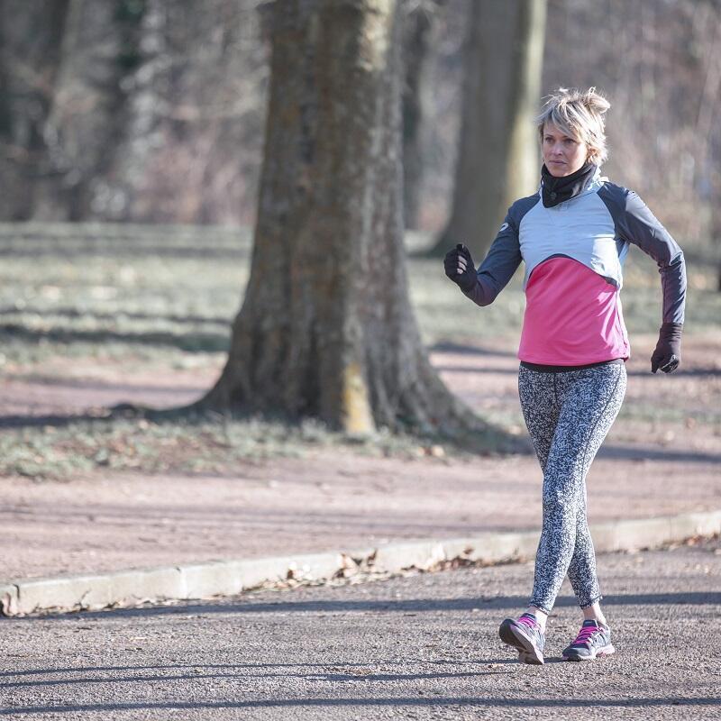 fitness walking in winter