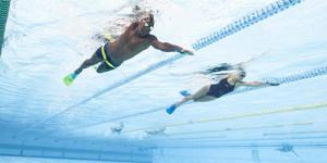 barbatanas de natação