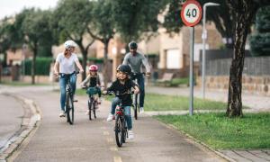 fietstocht met het gezin
