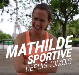 Mathilde - sportive depuis 10 mois