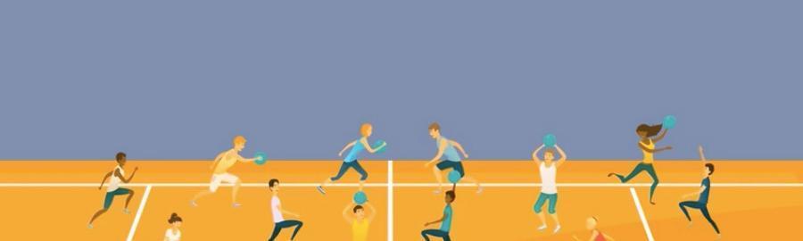 terrain de dodgeball