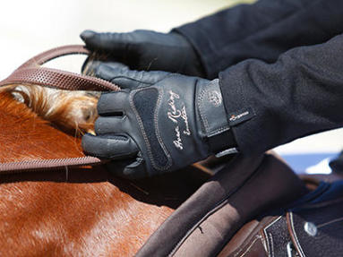 Luvas de equitação