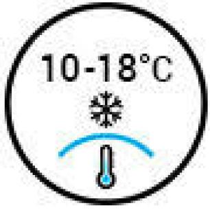 Temperature 10-18°C