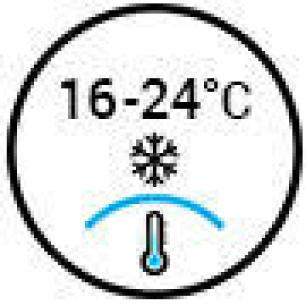 Temperature 16-24°C