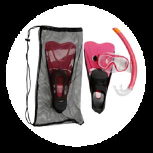 Le kit PMT (Palmes-Masque-Tuba) de snorkeling