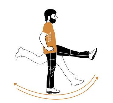 6 exercices d'échauffement avant de partir en randonnée - hanches